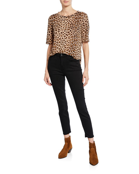 Jen7 by 7 for All Mankind Mid-Rise Skinny Ankle Jeans