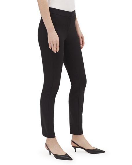 Lafayette 148 New York Tribeca Acclaimed Stretch Pintucked Skinny-Leg Pants
