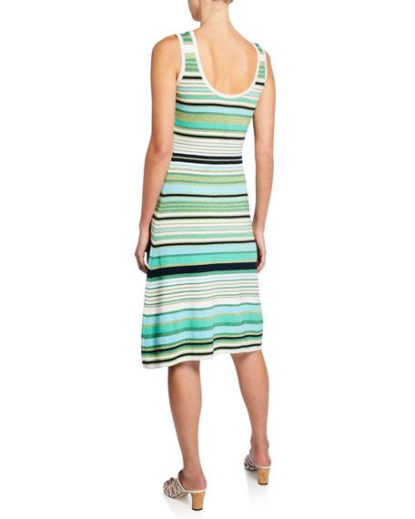 Veronica Beard Dulce Striped Scoop-Neck Sleeveless Dress