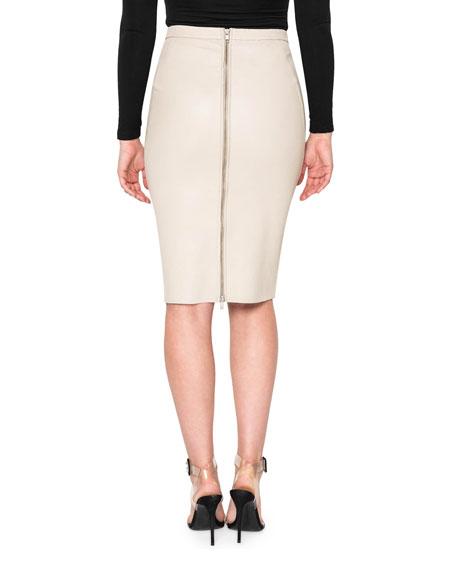 LaMarque Avana Stretch Leather Pencil Skirt