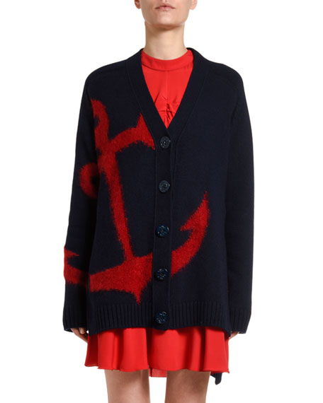 No. 21 Anchor Wool Cardigan