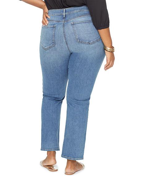 NYDJ Plus Plus Size Marilyn Straight-Leg Jeans