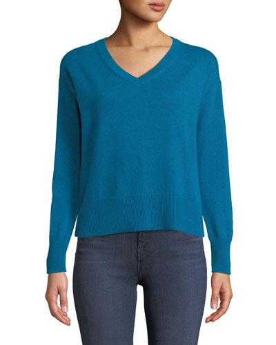 Easy V-Neck Cashmere Pullover Sweater