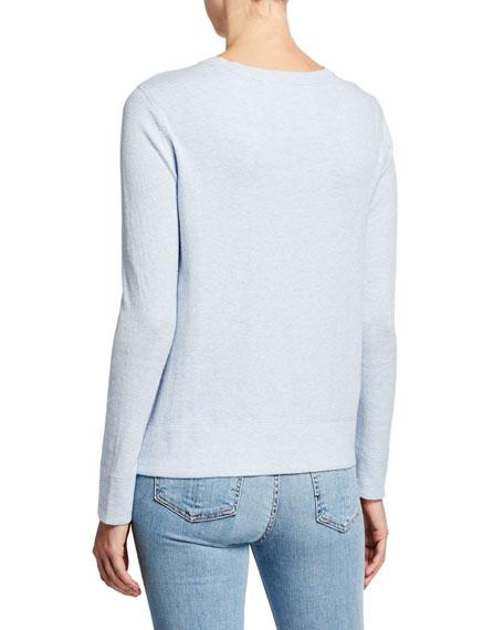 Lisa Todd Plus Size Zip It Cotton/Cashmere Long-Sleeve Sweater w/ Contrast Zip Detail