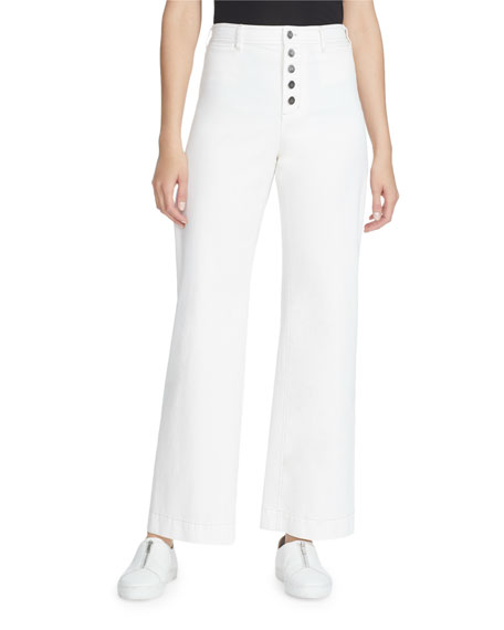 Lafayette 148 New York Clark Yarn-Dyed Denim Ankle Pants