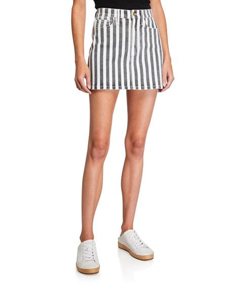 FRAME Le Mini Beatnik Stripe Skirt
