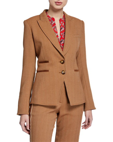 Veronica Beard Hudson Herringbone Dickey Jacket