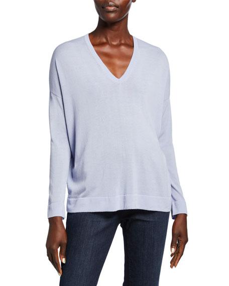 Eileen Fisher V-Neck Long-Sleeve Sweater