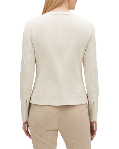 Lafayette 148 New York Cairo Zip-Front Fundamental Bi-Stretch Jacket