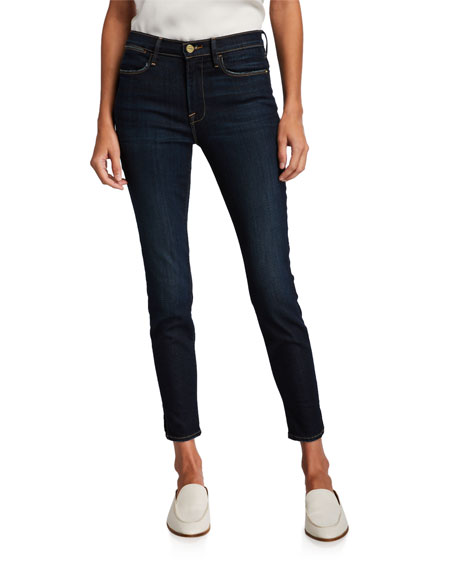 FRAME Le High Skinny Jeans with Split Seam