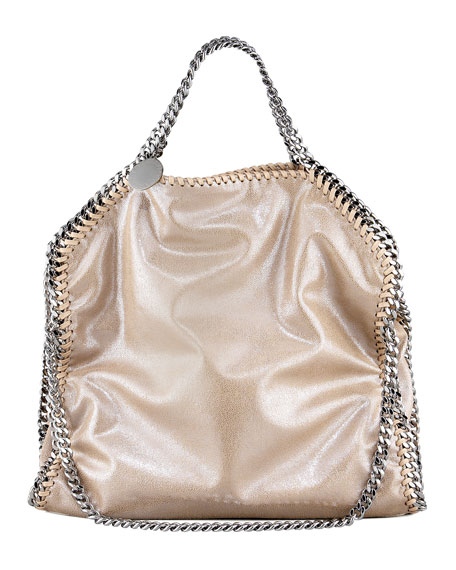 Stella McCartneyFalabella Fold-Over Tote Bag, Red Wood Blush