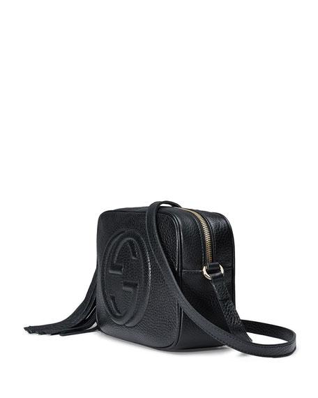 Soho Leather Disco Bag, Black