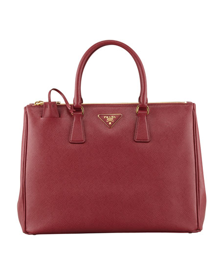 Prada Saffiano Executive Tote Bag, Wine (Cerise)