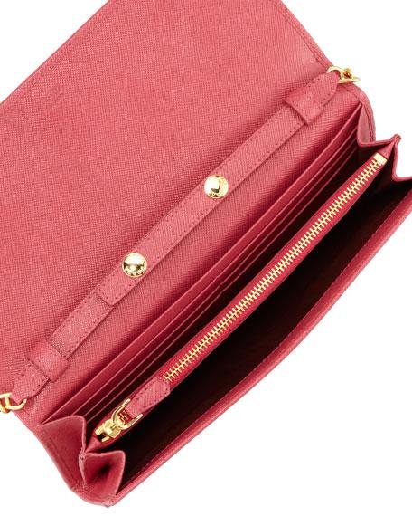 74e81b5c662e Prada Saffiano Wallet on a Chain