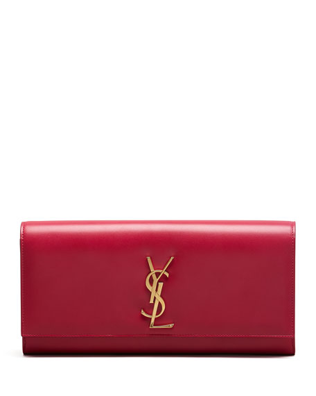 Saint Laurent Cassandre Clutch Bag Pink Neiman Marcus