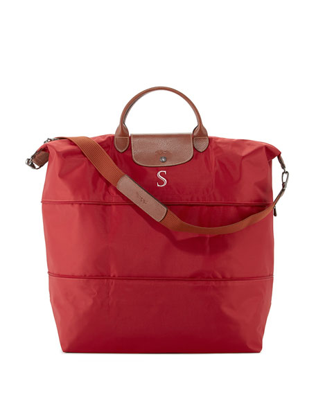 Le Pliage Expandable Monogram Travel Bag, Red