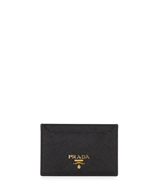 Prada Saffiano Card Holder | Neiman Marcus