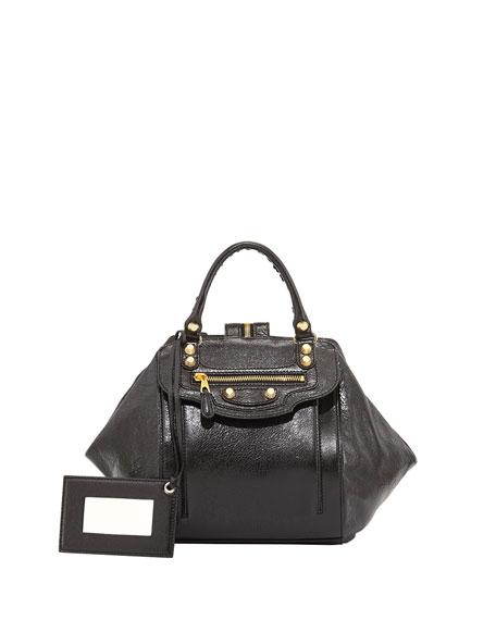 Giant Golden Zip Traveler Backpack, Black