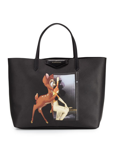 Antigona Large Shopping Tote, Bambi Print