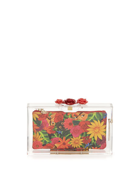 Pandora Rose Perspex Clutch Bag