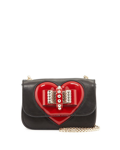 Sweety Charity Valentine Shoulder Bag, Black/Red