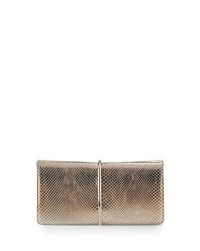Arc Python Clutch Bag, Gold