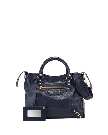 Balenciaga Giant 12 Golden Velo Bag, Dark Blue