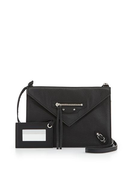 Balenciaga Papier Envelope Crossbody Bag, Black