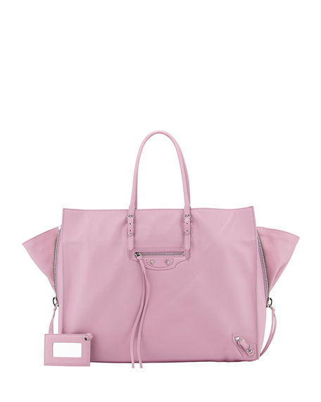 Balenciaga Papier A4 Side Zip Leather Tote Bag,