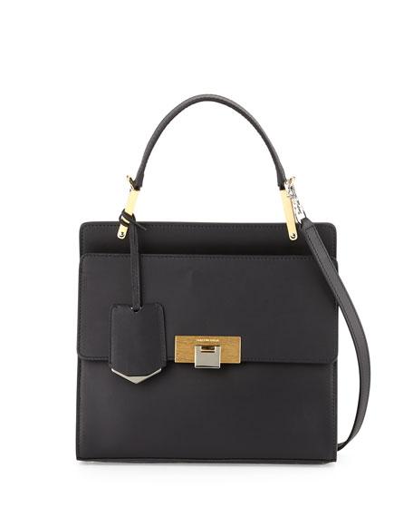 Balenciaga Le Dix Cartable Flap Satchel Bag, Black