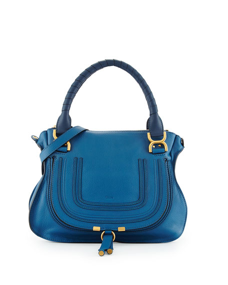 Chloe Marcie Medium Satchel Bag, Cobalt