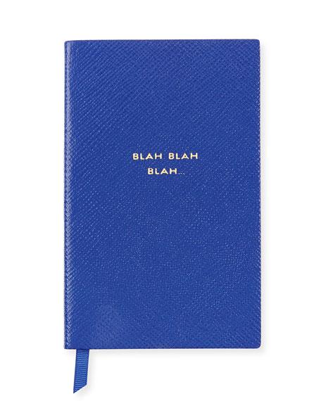"""""""Blah Blah Blah"""" Panama Notebook, Cobalt"""