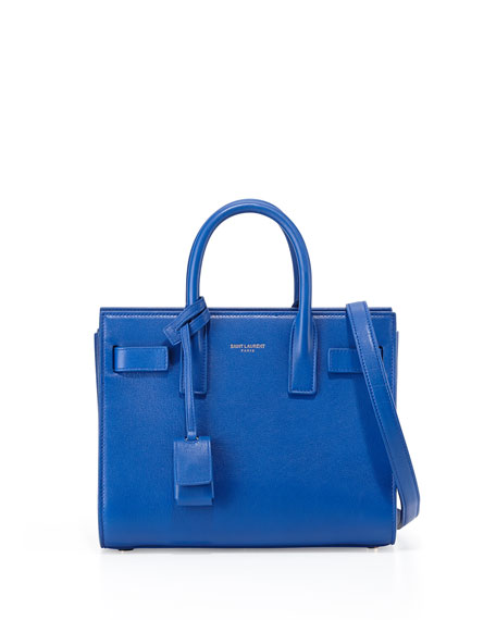Saint Laurent Sac de Jour Nano Crossbody Bag, Cobalt Blue