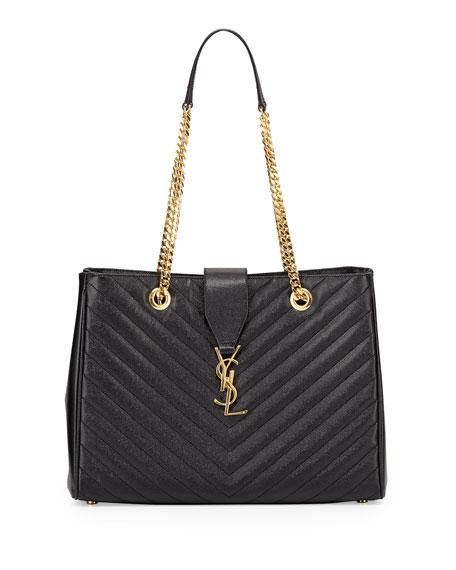 saint laurent monogram matelasse shopper bag black. Black Bedroom Furniture Sets. Home Design Ideas
