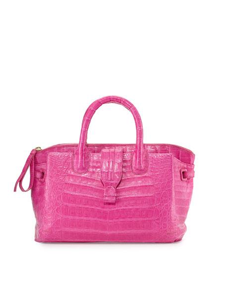 Nancy Gonzalez Cristina Small Crocodile Tote Bag, Pink