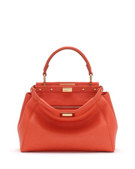 Kaboo Mini Leather Satchel Bag Orange