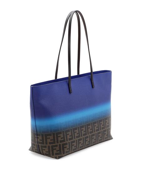 f648668e078d Fendi Painted Zucca Medium Roll Tote Bag