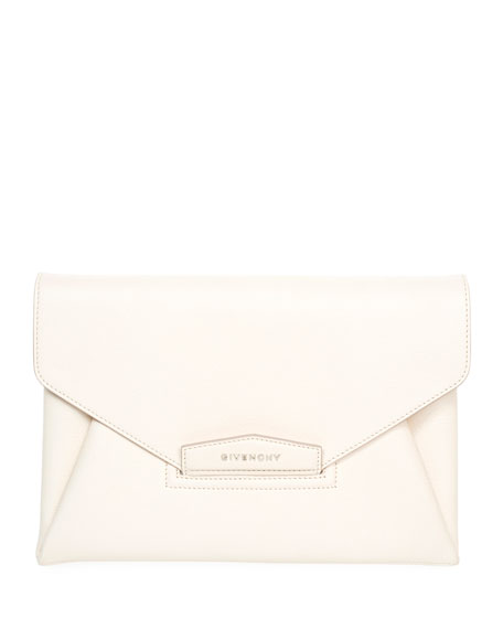 Givenchy Antigona Leather Evening Envelope Clutch Bag