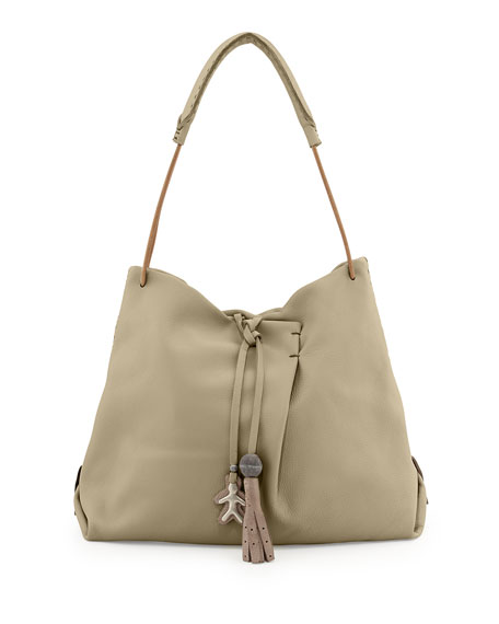 Henry Beguelin Cervo Soft Leather Hobo Bag, Natural