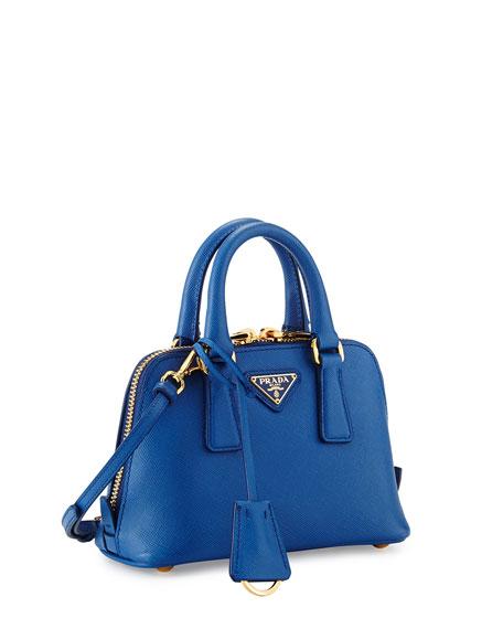 Mini Saffiano Promenade Bag, Cobalt Blue (Azzuro)