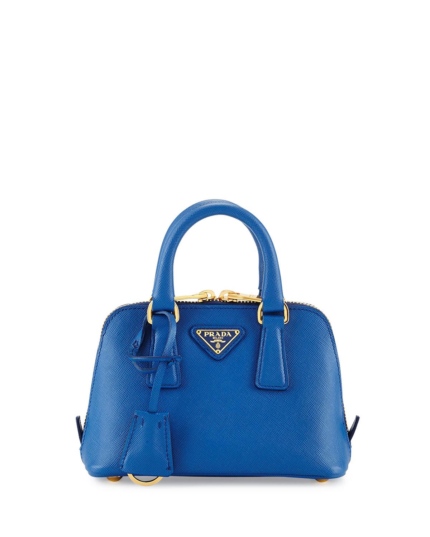 Mini Saffiano Promenade Bag Cobalt Blue Azzuro