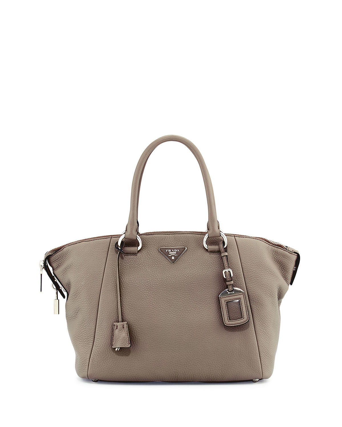 2f03ffb5579c Prada Vitello Daino Satchel Bag