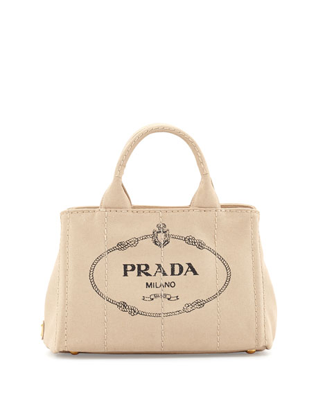 Prada Canvas Handbag Clearance 100% Guaranteed C0YLO