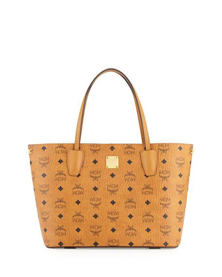 MCM Shopper Project Visetos Shopper Bag, Cognac