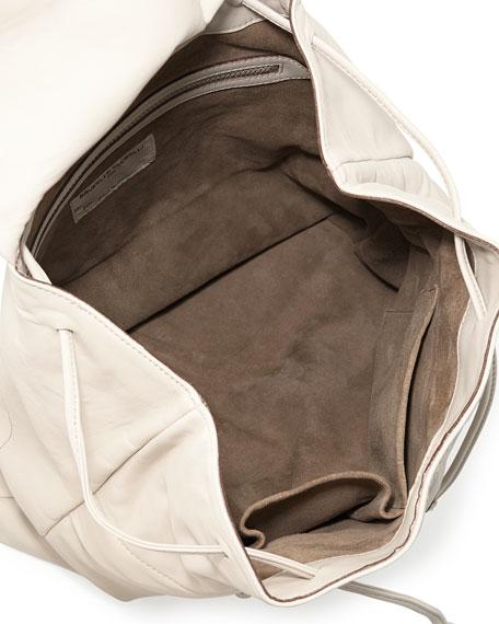 Lambskin Backpack w/Monili Straps, Off White