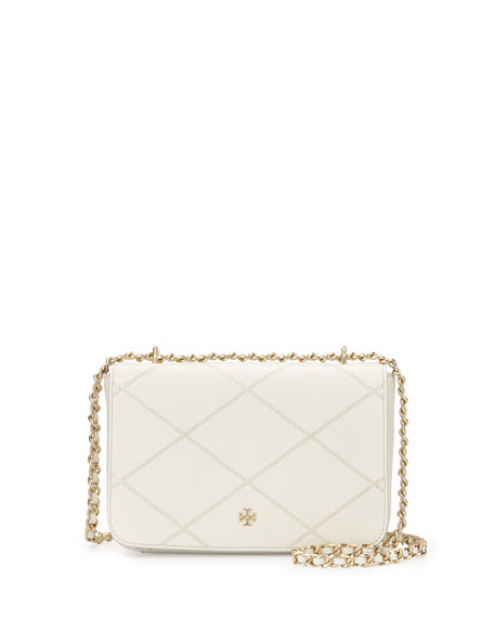 Robinson Stitched Crossbody Bag, New Ivory