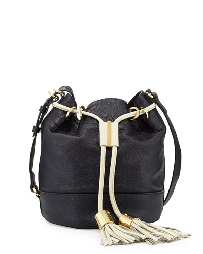 Vicki Vachetta Bucket Bag, Midnight