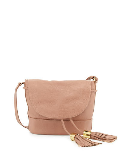 Vicki Vachetta Leather Crossbody Bag, Nougat