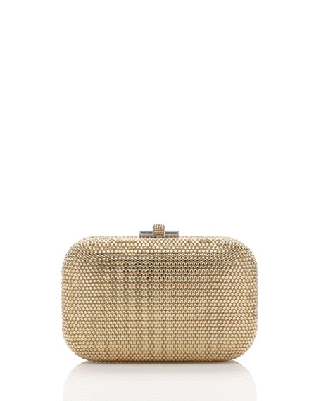 Judith Leiber Couture Crystal Slide-Lock Clutch Bag,