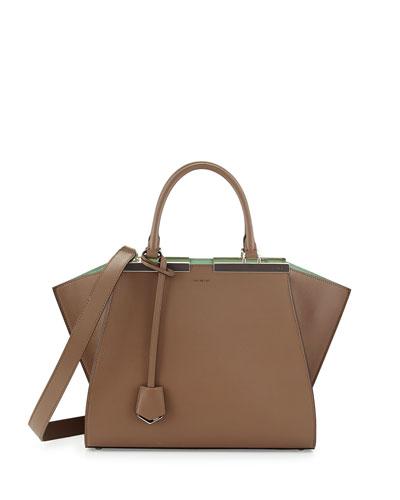 Trois-Jour Petite Bicolor Tote Bag, Green